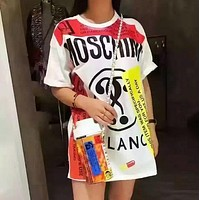 MOSCHINO Women's Trendy Printed Short Sleeve Dress F