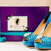 """Ariel """"The Little Mermaid"""" Couture Style Adult Pair Shoes Dress Shoes Heels Custom Made"""