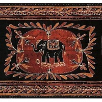 Lucky Elephant Batik Print Tapestry Wall Hanging Tablecloth Spread Throw Full