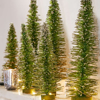 Snow Frosted Tabletop Tree - Urban Outfitters