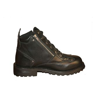 "Men's 6"" Side Zipper Plain Toe Boots"