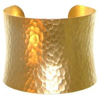 """Nickel Free 2"""" Wide Hammered Metal Cuff Bracelet, Quality Made in Usa, Girlprops' Exclusive!, in Gold Tone with Matte Finish"""