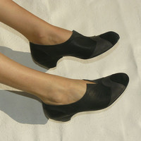 Women shoes, Oxford shoes, Black shoes, Black oxford shoes, Pointed toe, Black leather shoes, handmade shoes, Brogues