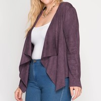 New York Purple Suede Blazer | Plus