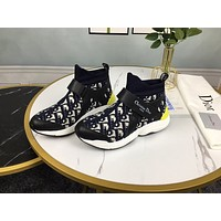 Dior Men's And Women's 2021 NEW ARRIVALS High Top Sneakers Shoes