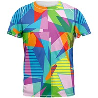 Retro Shapes All Over Adult T-Shirt