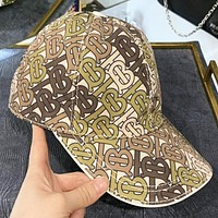 Burberry New fashion more letter print sun protection cap hat