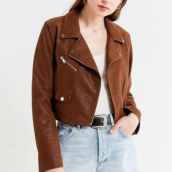 UO Faux Suede Moto Jacket | Urban Outfitters