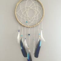 Blue Tones ~ Boho Dreamcatcher Wall Hanging