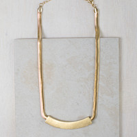 Gold Plate Flat Chain Necklace