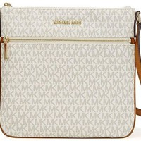 DCCK2JE MICHAEL Michael Kors Bedford Signature Flat Cross-Body Bag
