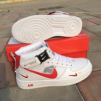 Free shipping: Nike Air Force 1 AF1 x Off-white high-top sneakers shoes