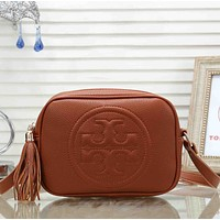 Tory Burch Women Fashion Pattern Leather Crossbody Handbag Shoulder Bag