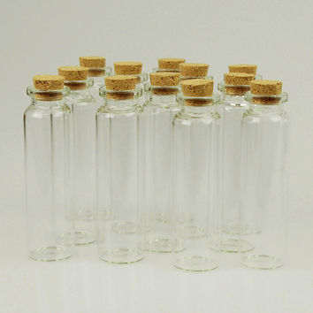 Mini Corked Jars Tube Bottle Favors, 12-pack, 3-1/2-inch