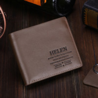 Vintage Mens Brown Leather Card Holder Wallet