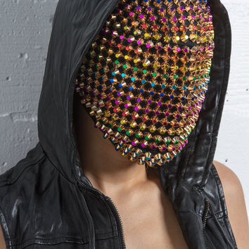 Golden Rainbow -  Custom Haute Couture mask