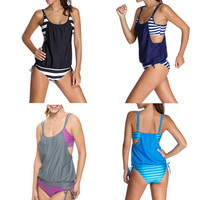 Striped Bikini One Piece Swimsuit 10450