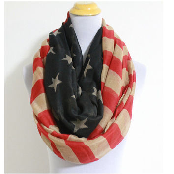 American Flag Scarf by KnitPopShop
