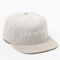 Diamond Supply Co - Garnet Heather Grey Snapback Hat - Mens Backpack - Grey - One