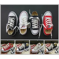 2017 Kids Converse Chuck TayLor Core Casual Shoes Low Cut Boys Girls Classic Black White Red Canvas Shoes Sneakers 28-35