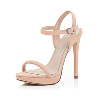 River Island Womens Nude barely there sandals