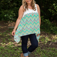 Curvy| Carry Me Through Tank - Mint