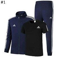 ADIDAS 2018 autumn and winter new men and women sports and leisure sportswear three-piece #1