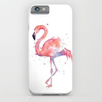 Flamingo Watercolor iPhone & iPod Case by Olechka   Society6