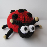 Ladybug Ladybird Beetle toy eco friendly toy toddler toy kids gift child stuffed toys for kids soft baby toy crochet amigurumi cute toys bug