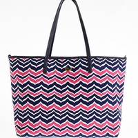 Whale Tail Chevron Large Tote