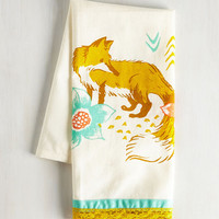 Critters All Good in the Woods Tea Towel in Fox by ModCloth