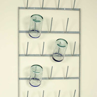 Cup Drying Wall Rack Galvanized