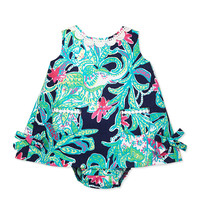 Baby Lilly Shift Dress, Bright Navy, 3-24 Months - Lilly Pulitzer - Bright navy trunk