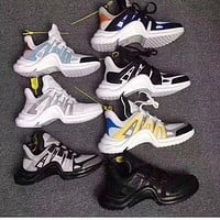 2018 fashion Designer Shoes Luxury archlight Mix 6 colors stars Show version Women and men retro sneakers size 36-44 With box receipt bags