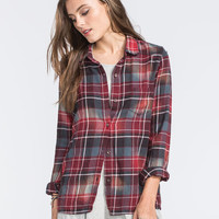 Rvca Jig Womens Flannel Shirt Black Combo  In Sizes