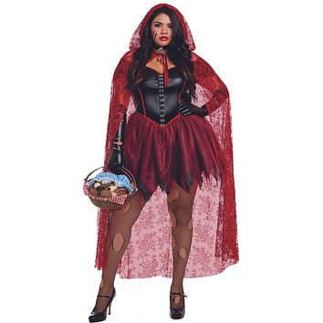 Sexy Plus Size Big Bad Red Women's Costume