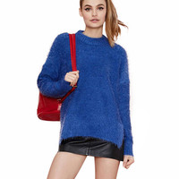 Long Sleeve Mohair Knitted Sweater