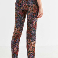 BDG Floral Jacquard Straight-Leg Pant | Urban Outfitters