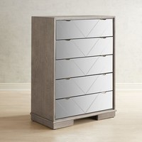 Pershing Tall Mirrored Chest