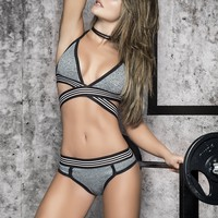 Sporty Grey Bra Set