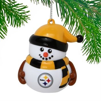 Pittsburgh Steelers Snowman Ornament