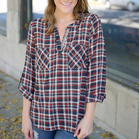 Pure Bliss Plaid Top