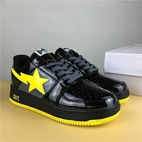 Foot Soldier Bape Sta Black/yellow Star Sneaker Shoe 36 45
