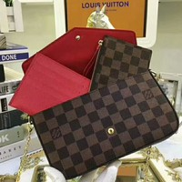 LV Louis Vuitton 2018 Trendy High-Quality Women's Exquisite Three-piece (With Box) F-LLBPFSH coffee plaid