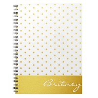 Gold polka dots and monogram - custom