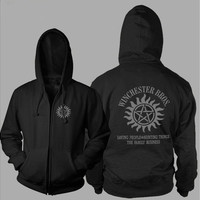 Xmas Gift Supernatural【SPN】 Thickening Cotton-padded Jacket Hoodie Cashmere Coats   [9325857668]