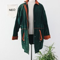 retro wilder suede drawstring jacket