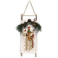 Stony Creek WOODEN SLED WITH APPLIQUE Wood Timer Bfn8325
