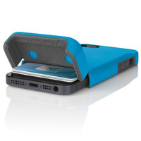 The Blue / Gray Incipio STASHBACK™ Dockable Credit Card Case for iPhone 5-5s