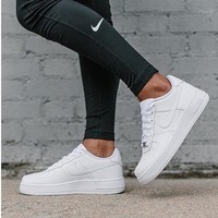 """Nike ""Low to help men's shoes air force  sandals leisure sports shoes white"